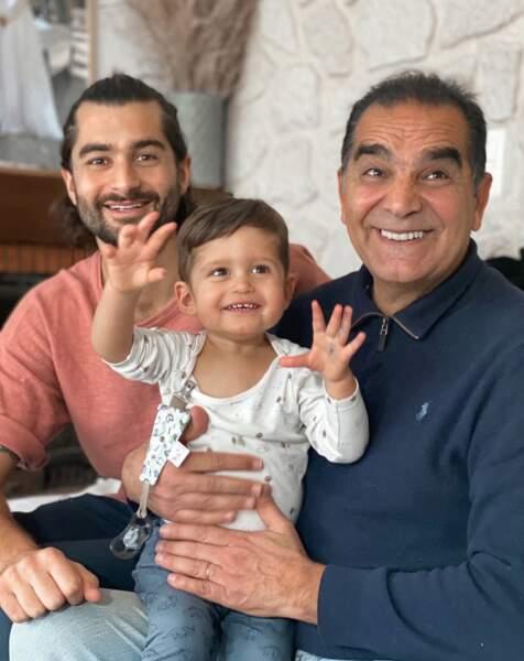 Benoit Assadi rend visite à son papa à Toulouse avec son petit bonhomme, Juliann, très content de voir son papi !