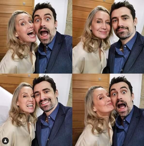 Catherine Marchal et son partenaire Flavio Parenti de la série Ici Tout Commence