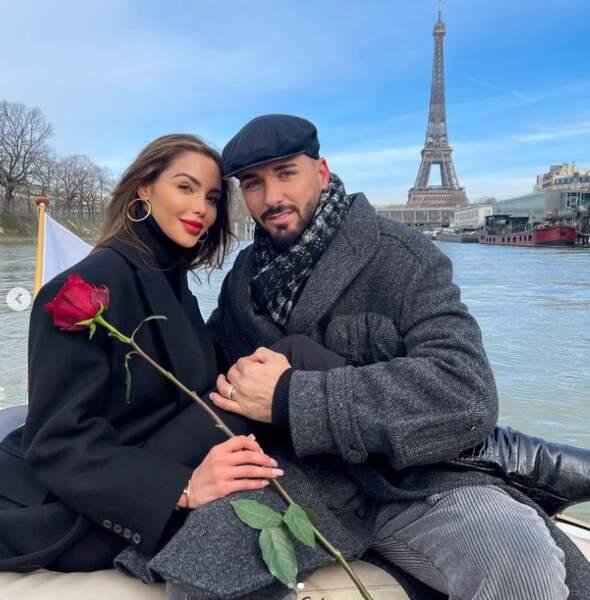 Nabilla et Thomas Vergara passent la Saint-Valentin à Paris