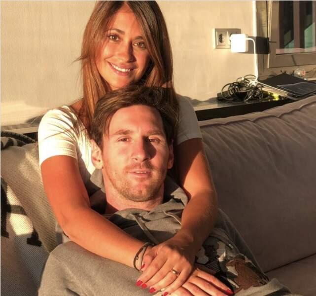 Lionel Messi et sa chérie Antonella Roccuzzo
