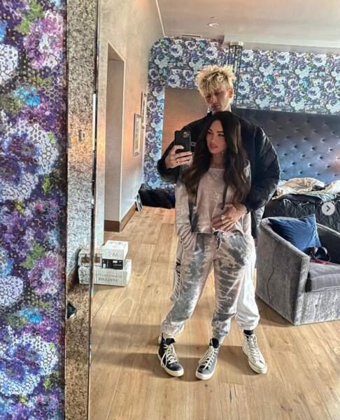Megan Fox et son chéri géant, le chanteur Machine Gun Kelly.