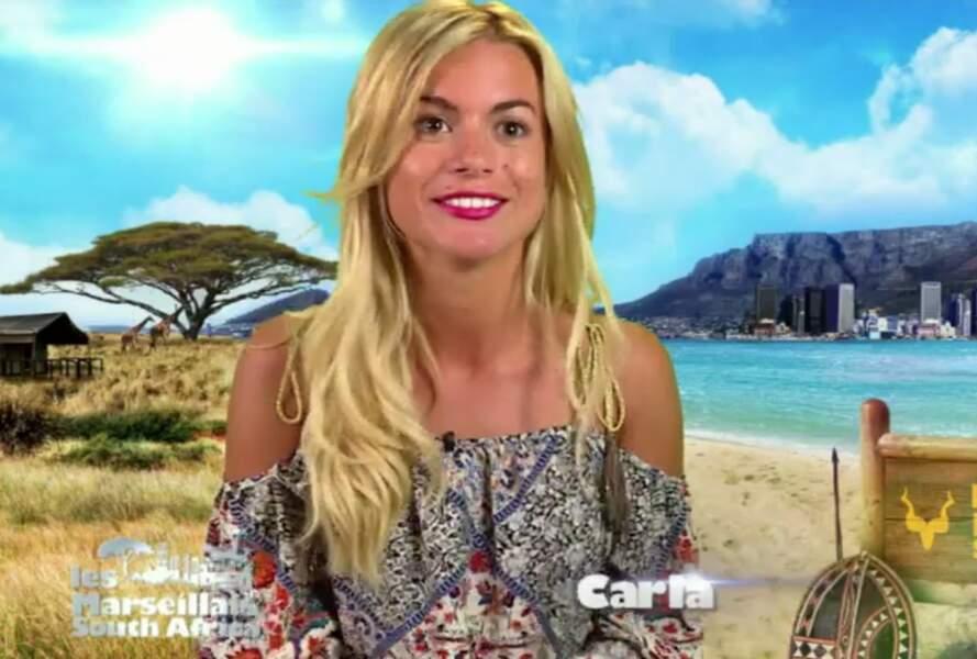 Les téléspectateurs ont fait la connaissance de Carla Moreau dans Les Marseillais South Africa en 2016