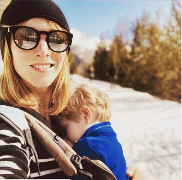 Pareil pour Elodie Varlet, mais avec son fils !