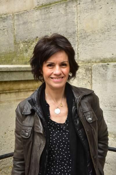L'actrice Helene Bizot présente pour la messe parisienne organisée en l'honneur de Rémy Julienne.