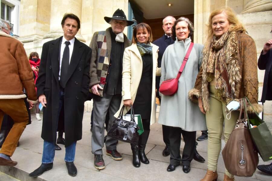 L'animateur télé et radio Vincent Perrot, ainsi que Justine Poulin, la veuve de Rémy Julienne.