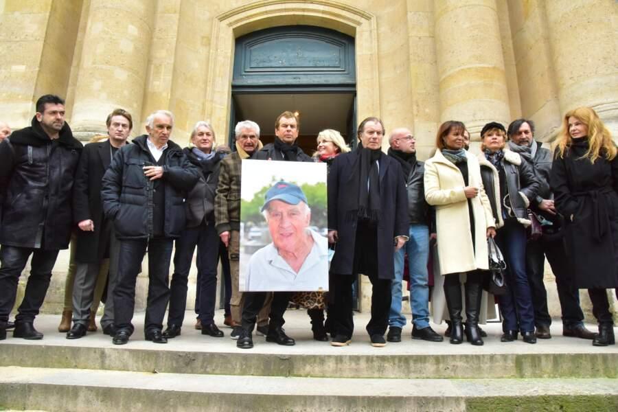 Benoit Magimel, Claude Lelouch, Daniel Russo, Justine Poulin, Cyrielle Clair et Vincent Perrot.