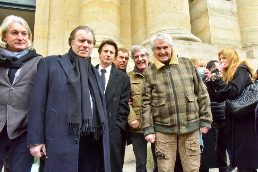 """Daniel Russo, Vincent Perrot, Bernard Menez et Claude Lelouch rendent hommage au """"casse-cou du cinéma français""""."""