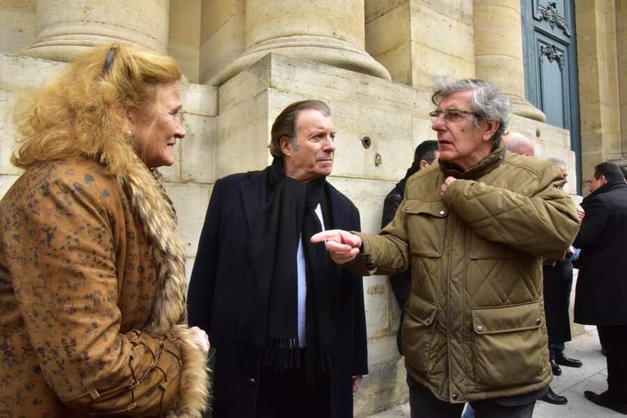 Les comédiens Katia Tchenko, Daniel Russo et Bernard Menez.