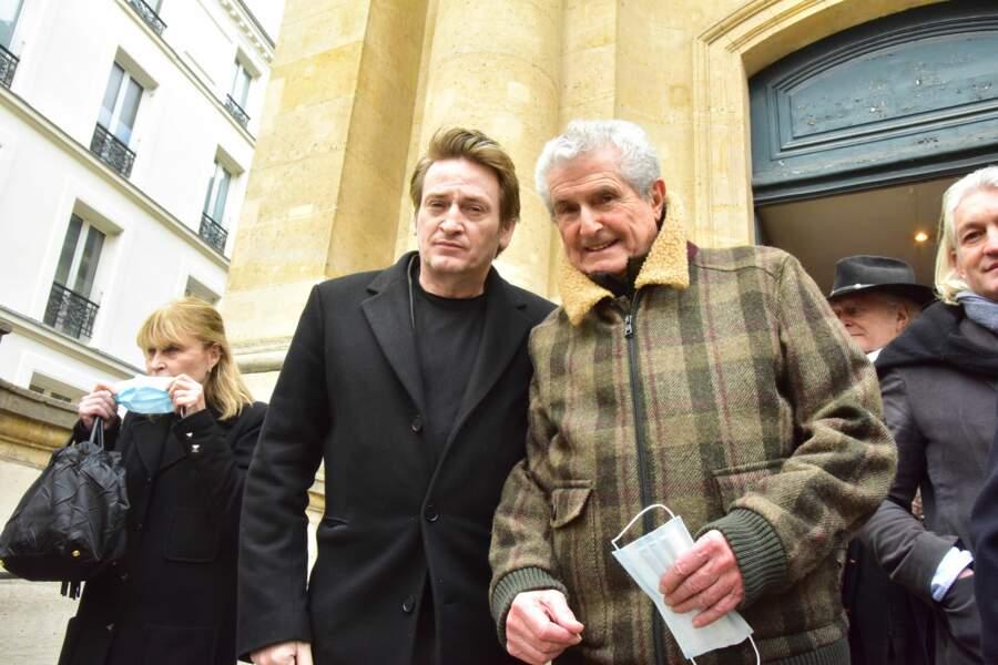 Benoit Magimel et Claude Lelouch posent ensemble.