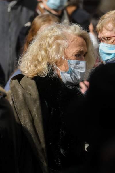 La comédienne Brigitte Fossey était également présente pour dire adieu au danseur étoile