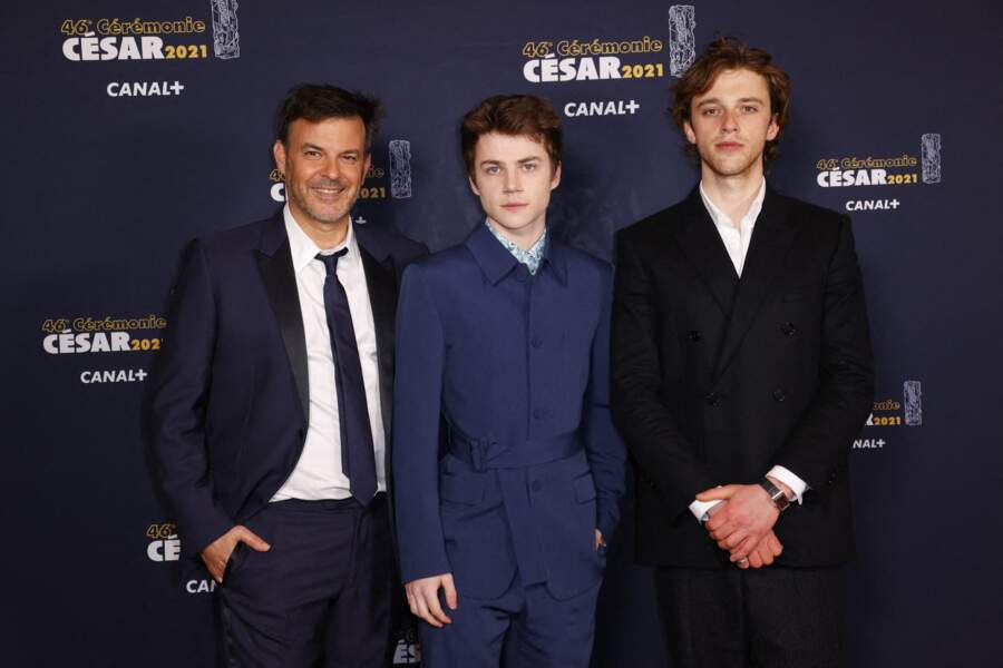 Francois Ozon, Felix Lefebvre et Benjamin Voisin