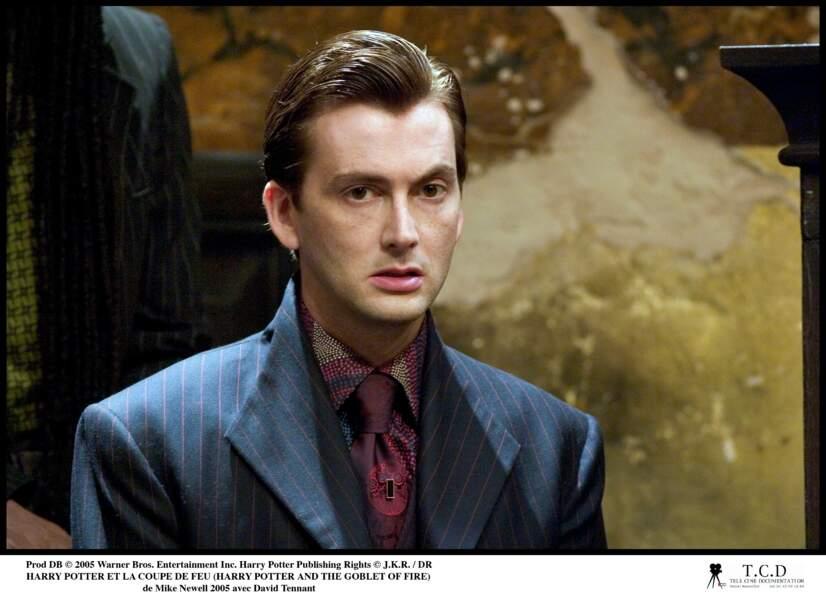 En 2005, David Tennant est glaçant dans la peau de Barty Croupton junior, adorateur de celui-dont-on-ne-peut-pas-prononcer-le-nom dans Harry Potter et la coupe de feu