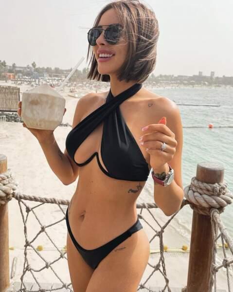 En bikini, Rym Renom a démontré qu'elle avait retrouvé sa ligne d'avant-grossesse.