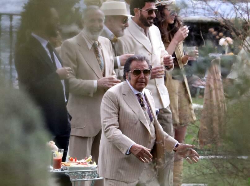 Al Pacino sur le tournage de Gucci au Lac de Côme, Italie