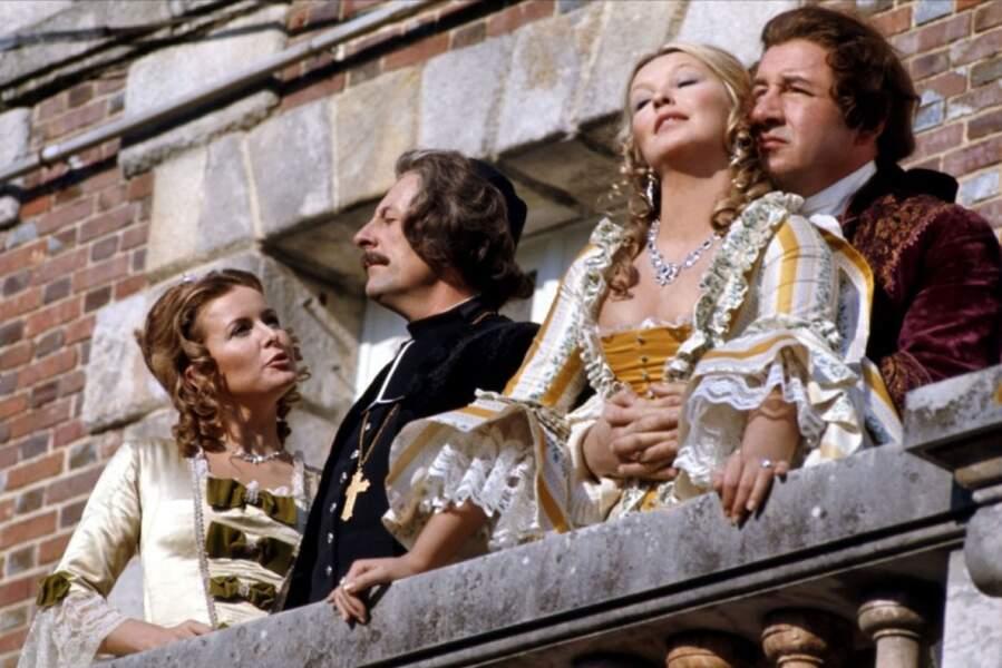 Marina Vlady, Jean Rochefort, Philippe Noiret dans Que la fête commence (1975)