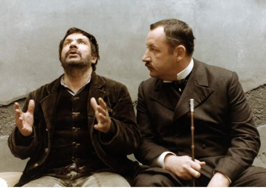 Michel Galabru et Philippe Noiret dans Le juge et l'assassin (1976)