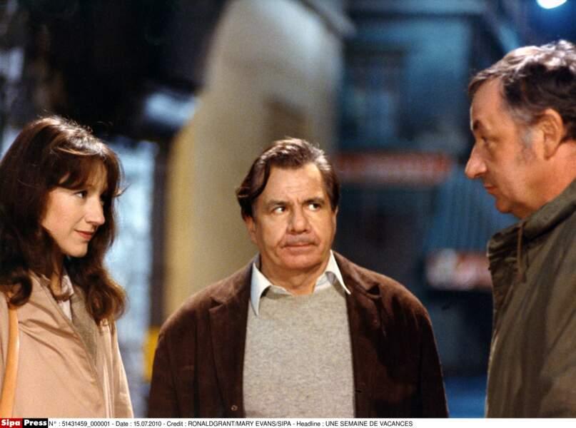 Nathalie Baye, Michel Galabru et Philippe Noiret dans Une semaine de vacances (1980)