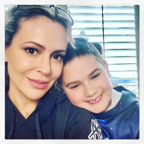 Tout aussi chou : Alyssa Milano et son fils Milo.