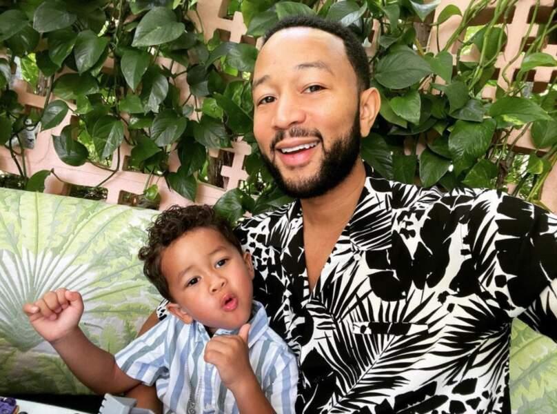 John Legend et son petit Miles.
