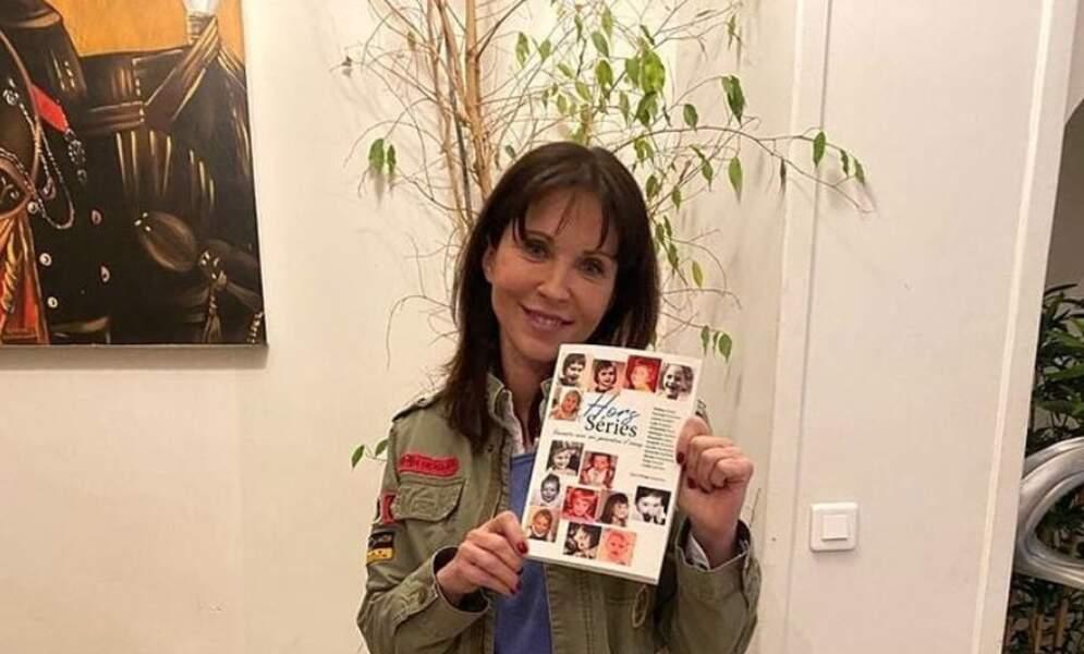 Isabelle Bouysse, alias Jeanne dans la série, et déjà en pleine promotion du livre de son copain Serge Gisquière
