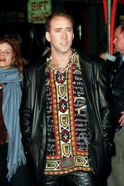 Nicolas Cage aime les chemises aux motifs... originaux