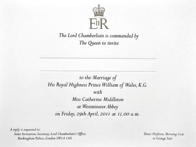 Pour avoir la chance de participer au mariage royal de l'année, encore fallait-il recevoir le précieux faire-part officiel !