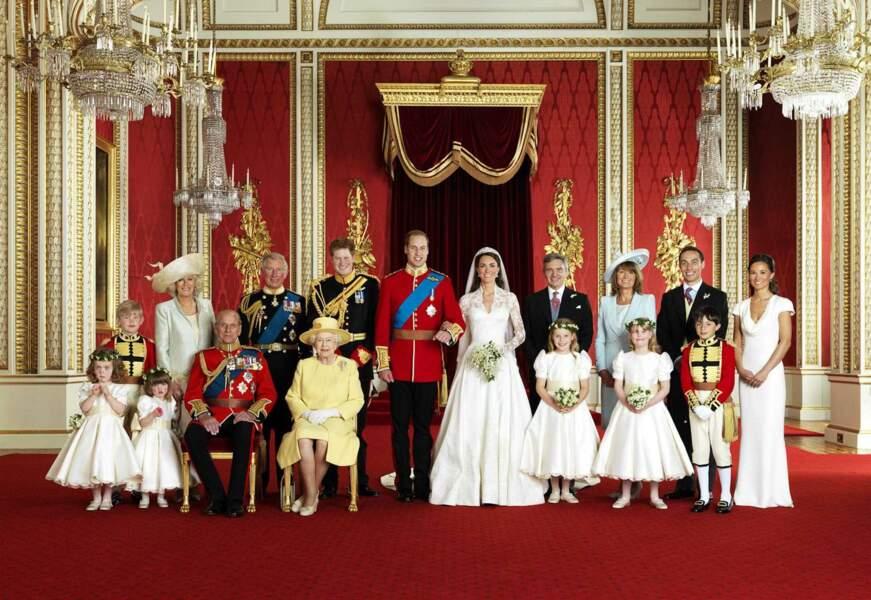 et avec la famille royale et celle de Kate !