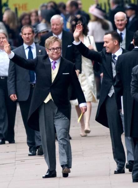 Ou encore le chanteur Elton John et son mari David Furnish