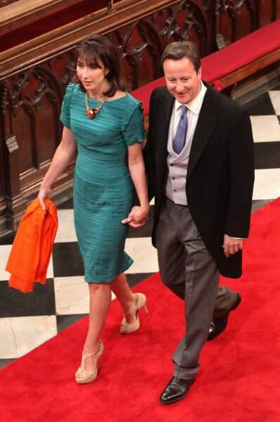 Le premier ministre David Cameron et son épouse Samantha font également partie des invités de marque