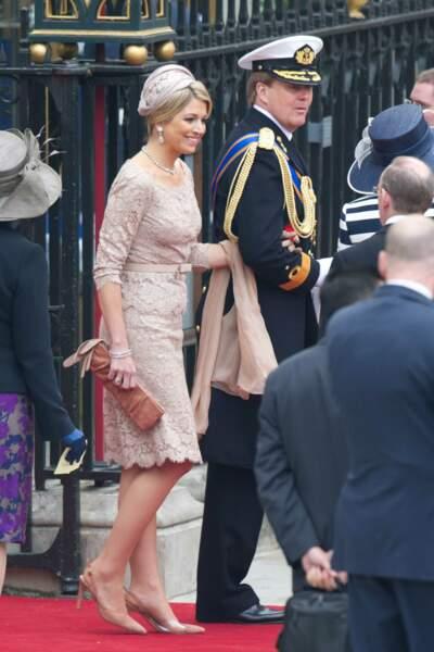 Le prince Willem-Alexander des Pays Bas et son épouse la princesse Maxima