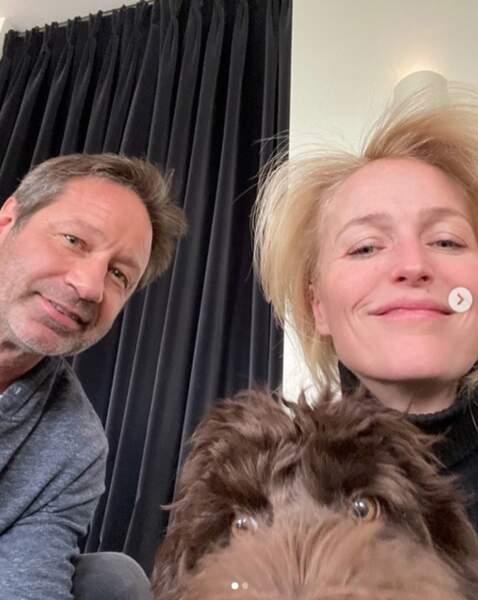 Quelles retrouvailles ! David Duchovny et Gillian Anderson, inoubliables stars de X-Files.