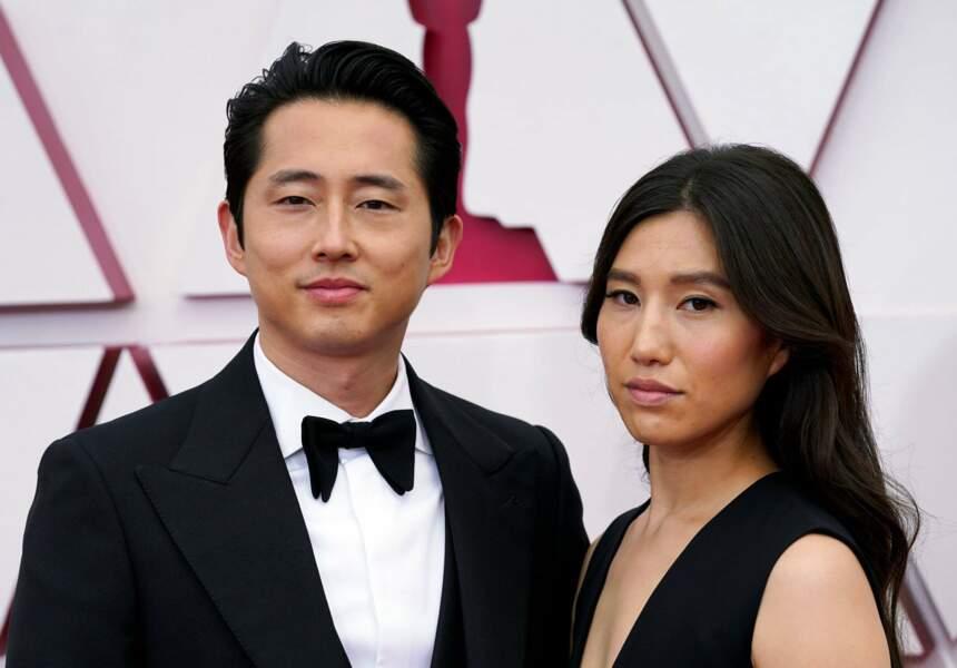 L'acteur Steven Yeun, nommé pour Minari, et sa femme Joana Pak
