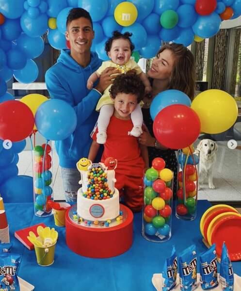 Et Raphaël Varane, pour ses 28 ans, était très bien entouré de sa femme Camille et de leurs enfants Ruben et Anaïs.