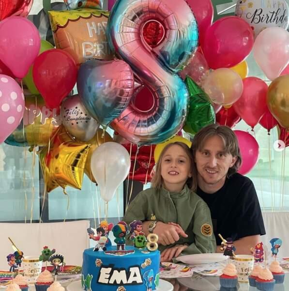 Luka Modric a fêté les 8 ans de sa fille Ema en grande pompe.