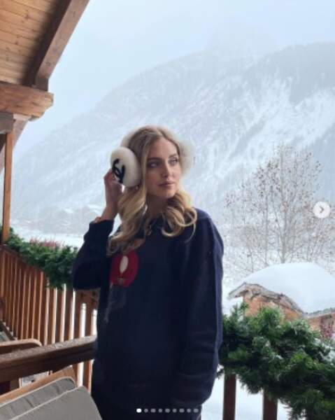 La voici en accessoires de luxe même à la montagne.