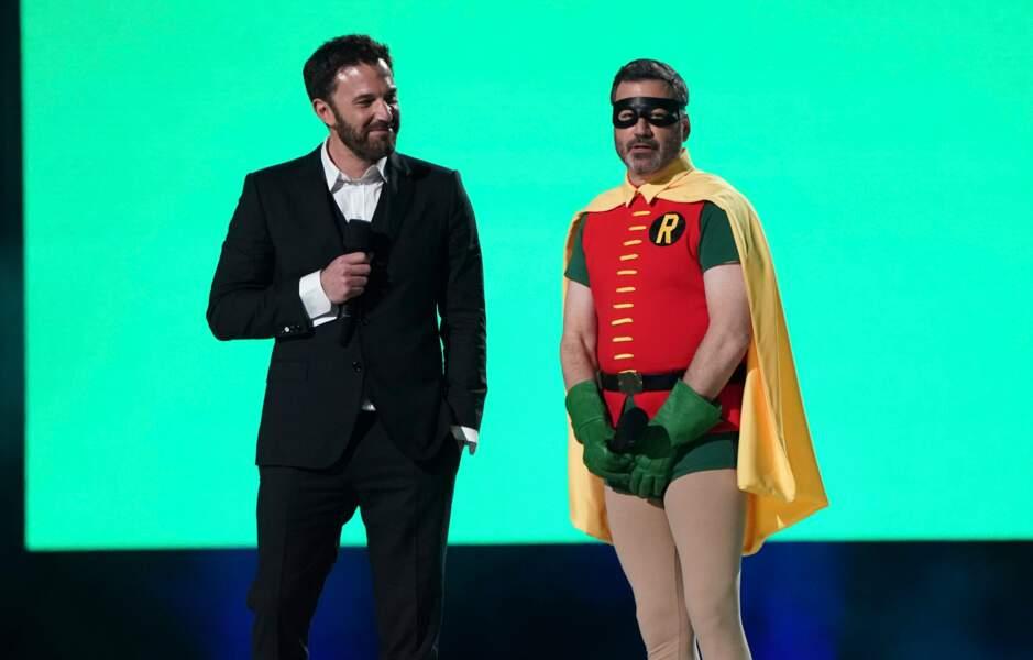 Ben Affleck et Robin alias Jimmy Kimmel.