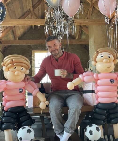 David Beckham était bien entouré pour son 46e anniversaire.