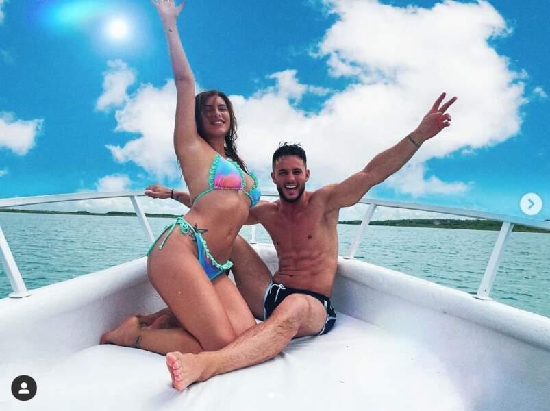 Maeva Martinez et son chéri Julien Havez passent du bon temps au Mexique