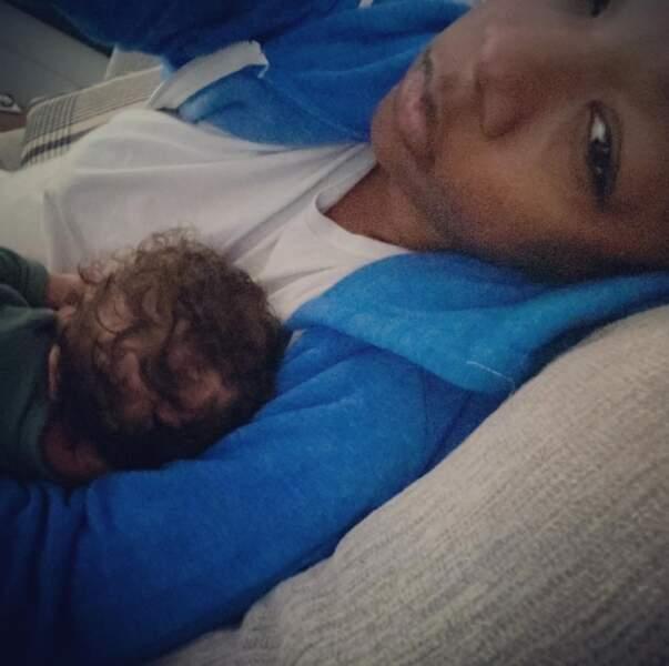 Un peu d'amour : Samira Wiley est une maman comblée mais fatiguée.