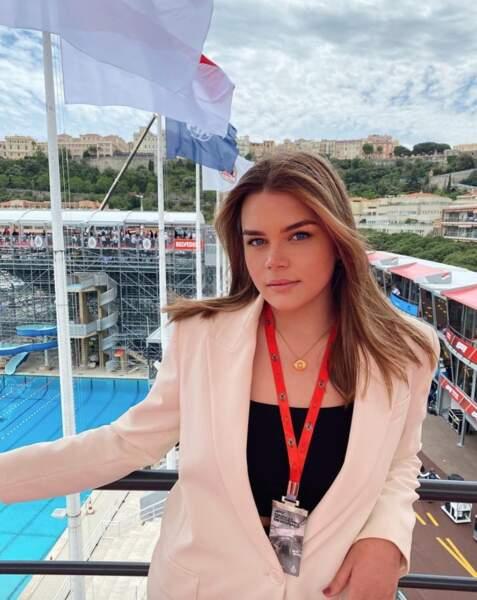 Et programme bien plus mondain pour Camille Gottlieb, immortalisée au Grand Prix de Monaco.