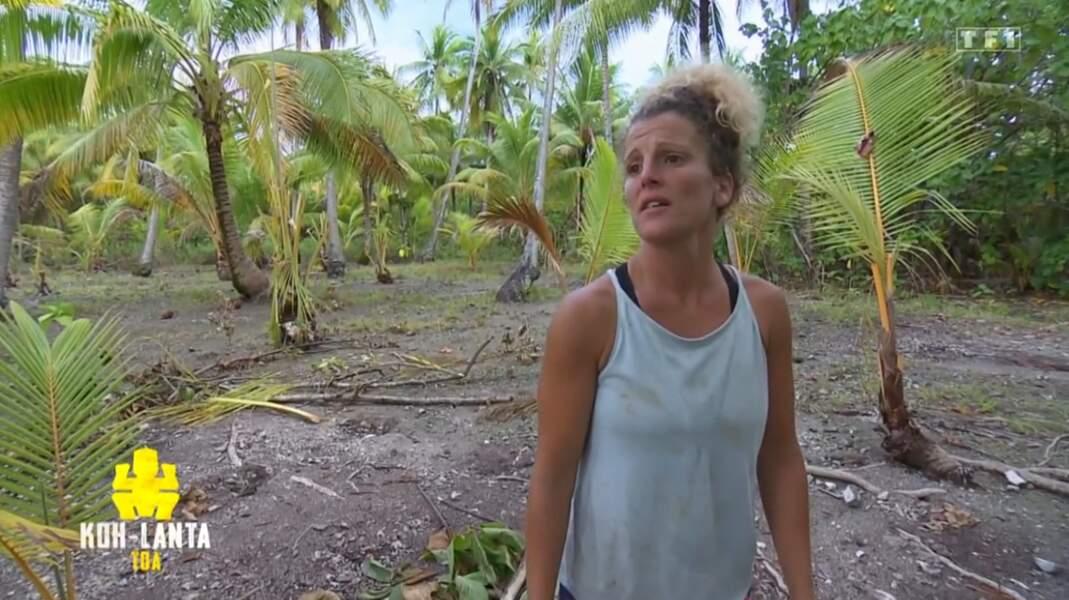 Laetitia lors de ses premiers pas sur Koh-Lanta...
