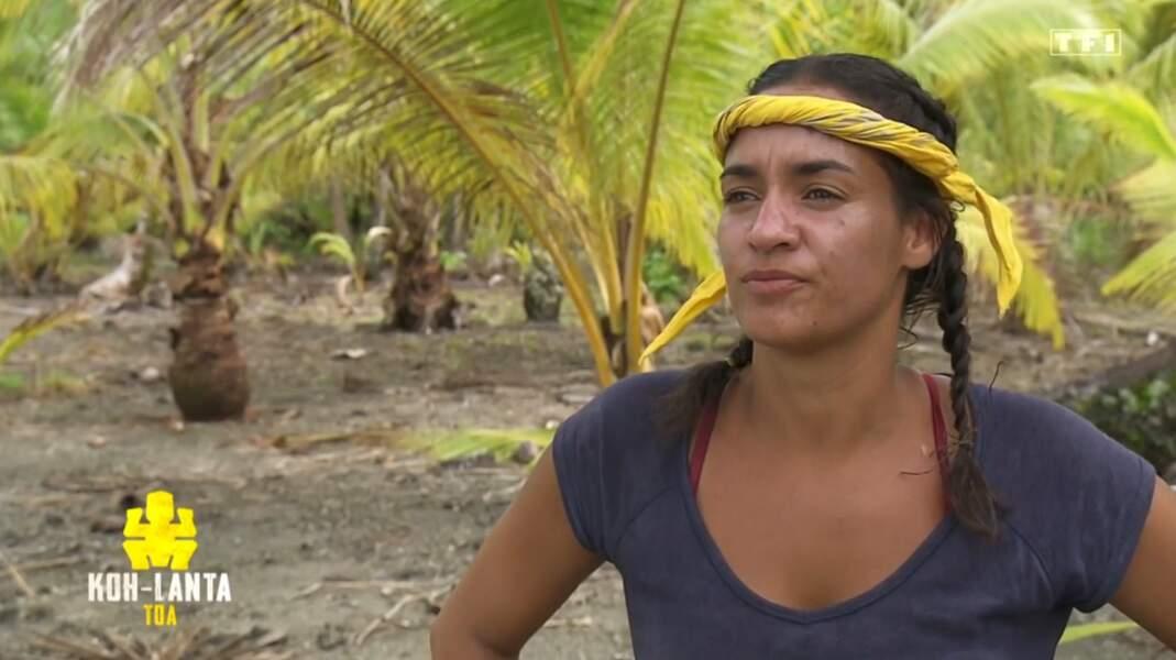 Myriam lors de son arrivée sur le camp...