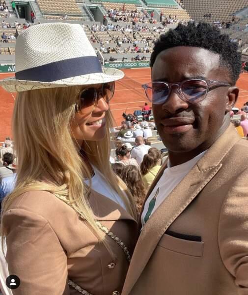 Elodie Mavuba et son mari Rio à Roland-Garros