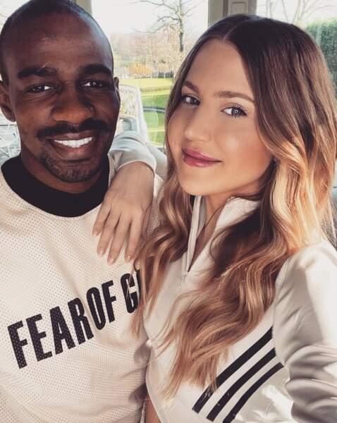 Lucie Kakuta et son mari Gaël, joueur du RC Lens