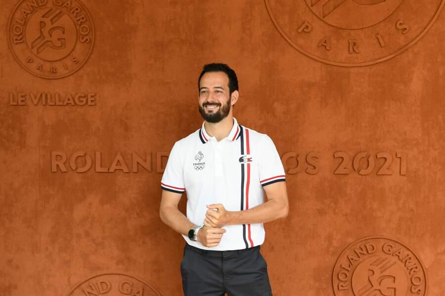 """Mathieu Forget, alias """"Flying man"""", a assisté à la finale dames à Roland-Garros, samedi 12 juin"""