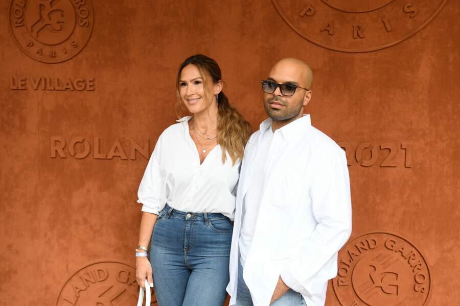 Vitaa et Saïd Boussif, son manager, à Roland-Garros, samedi 12 juin.