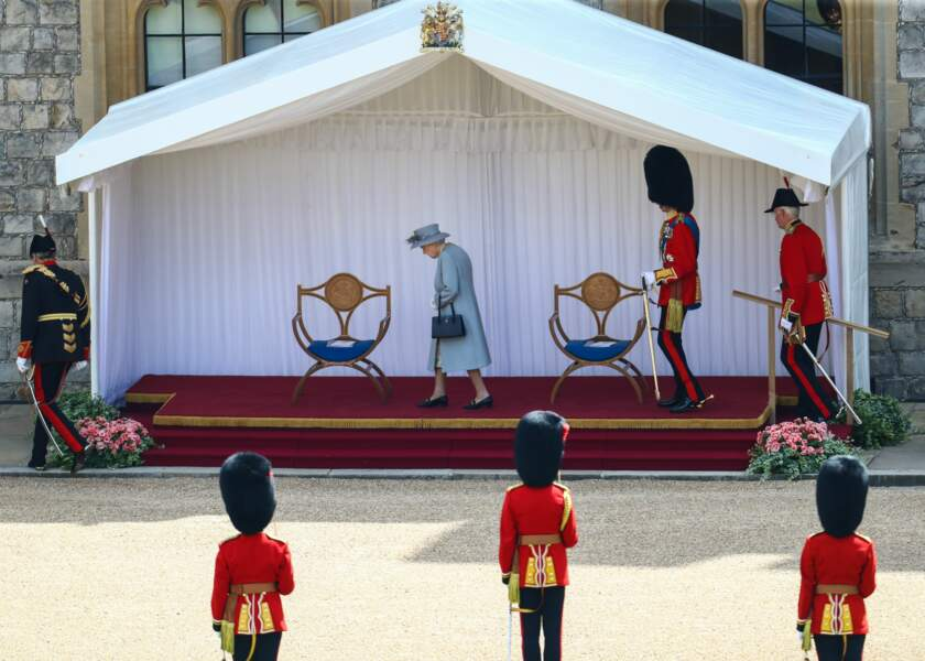 Il s'agissait du premier que la reine effectuait depuis la disparition de son époux.