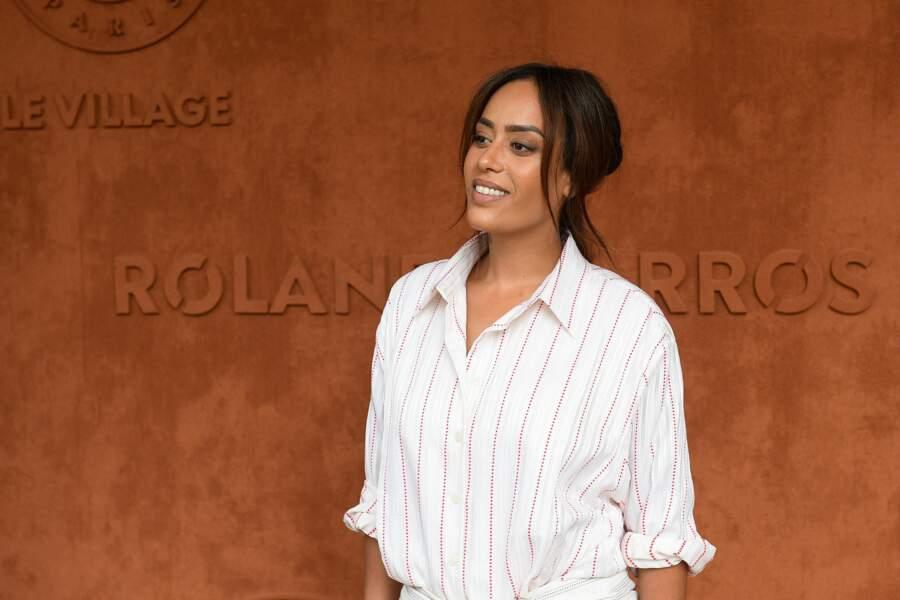 Amel Bent a rejoint son amie Vitaa au stade Roland-Garros pour la finale dames du tournoi, samedi 12 juin