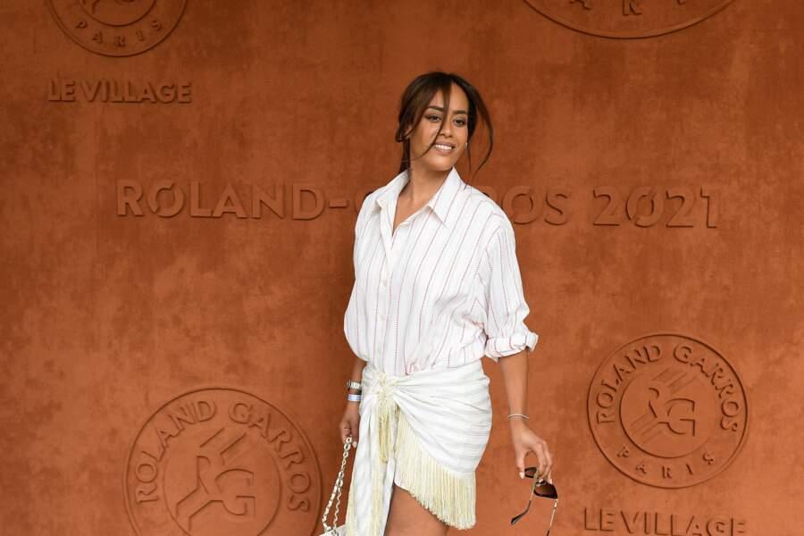Amel Bent à Roland-Garros, ce samedi 12 juin