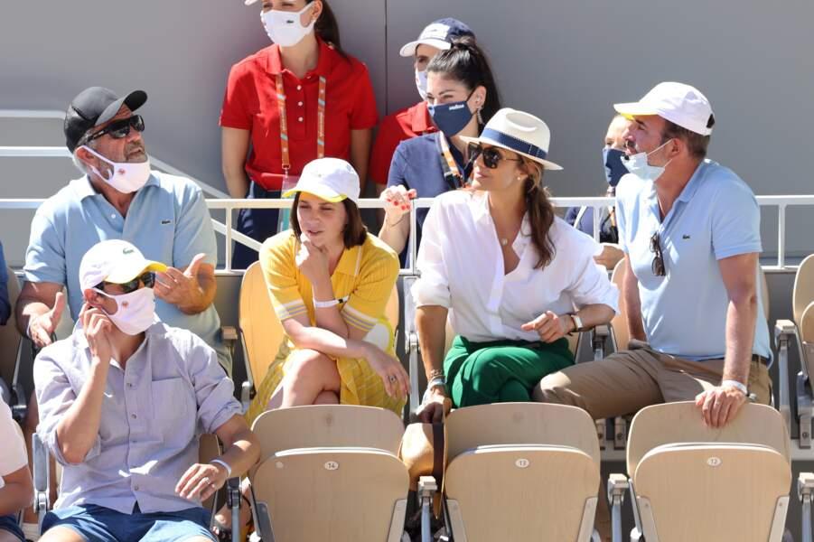 Mel Gibson, Nathalie Pechalat , Nadia Fares , Jean Dujardin présents dans les tribunes !